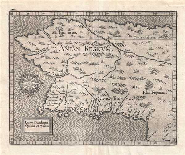 Limes Occidentis Quiuira et Anian. / Anian Regnum.