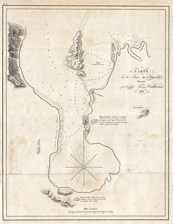 Carte de la Baie D'Annesley.