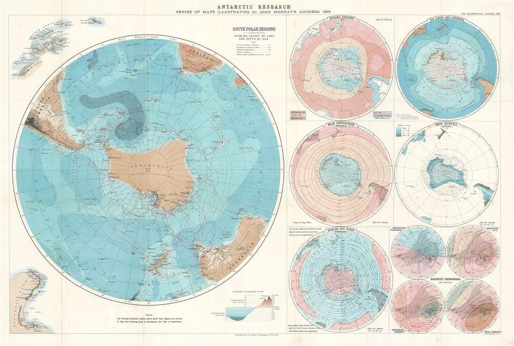 NORTH POLAR REGIONS Vintage Map 1922 by Bartholomew