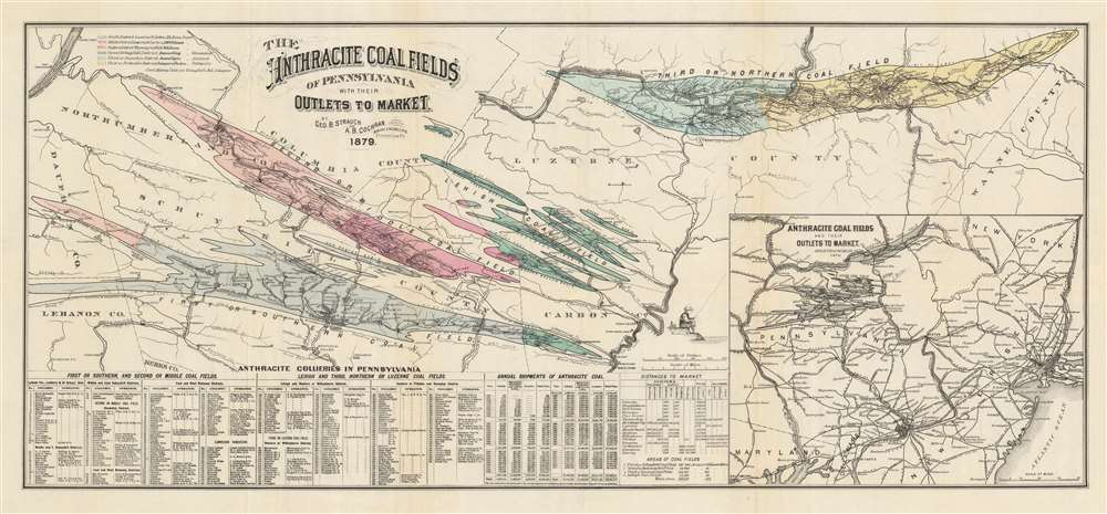 The Anthracite Coal Fields of Pennsylvania with their Outlets to Market. - Main View
