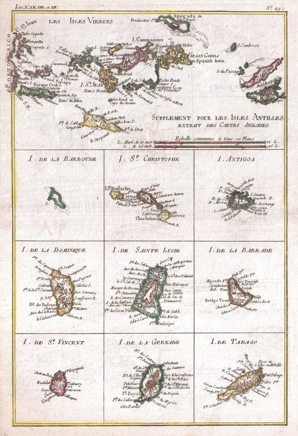 Les Isles Vierges, Supplement pour Les Isles Antilles Extrait des Cartes Angloises.