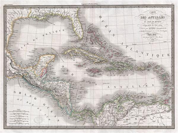 Carte des Antilles du Golfe due Mexique et d'une partie des Etates voisins. - Main View