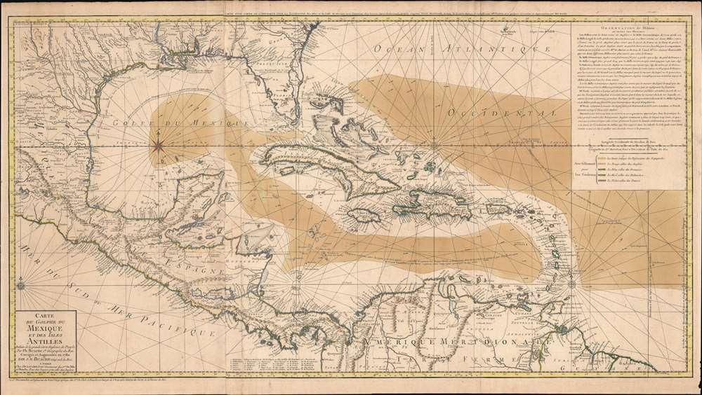 Carte du Golphe du Mexique et des Isles Antilles. - Main View