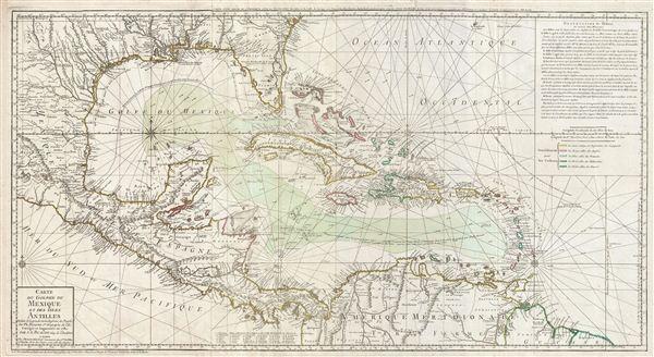 Carte du Golphe du Mexique et des isles Antilles.