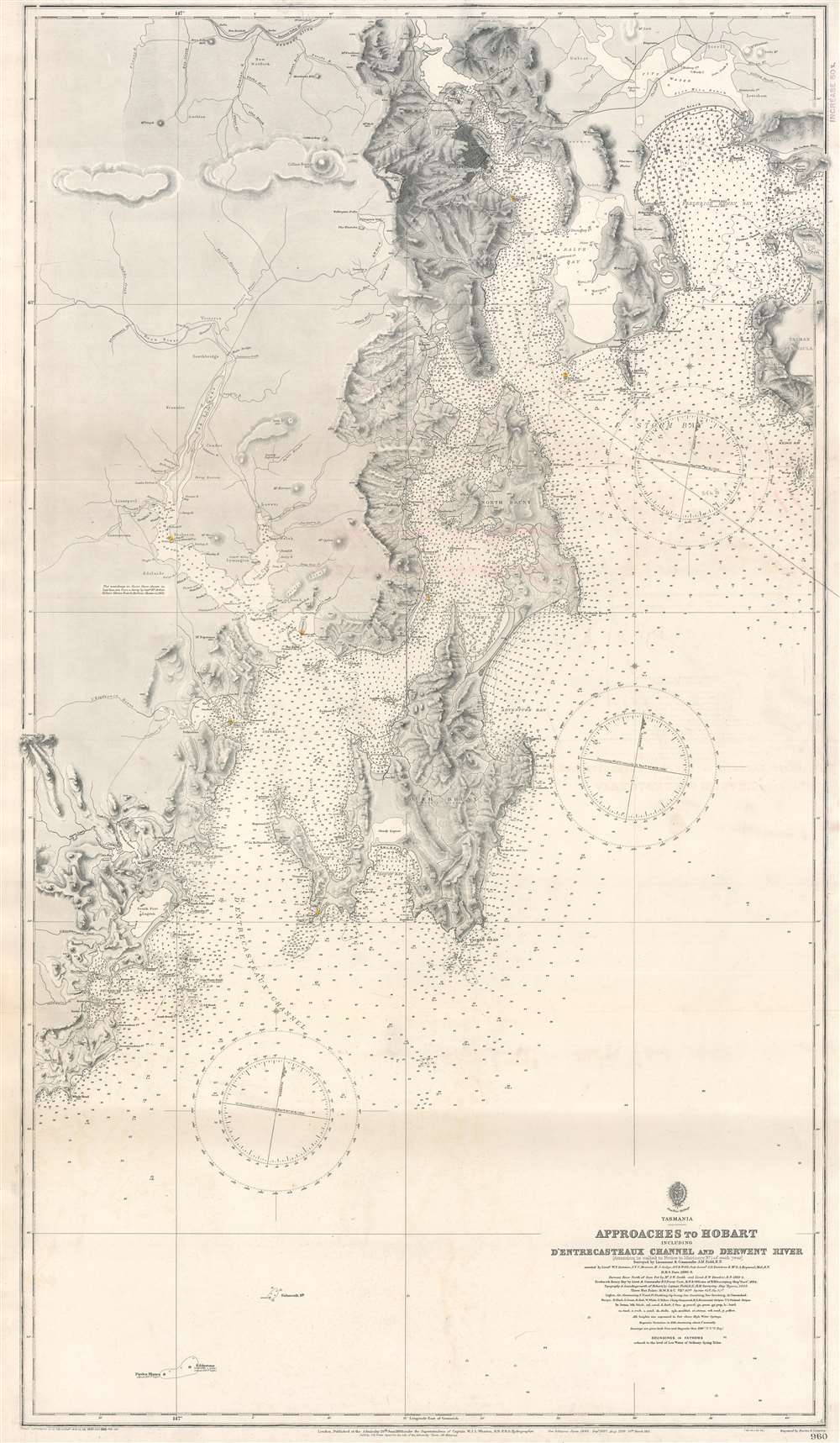 Approaches to Hobart Including D'Entrecasteaux Channel and Derwent River. - Main View