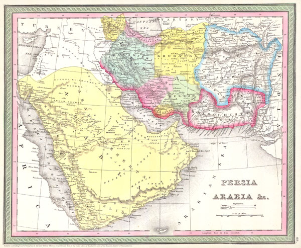 Persia, Arabia, and Afghanistan.