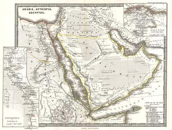 Arabia Aethiopia Aegyptus Geographicus Rare Antique Maps