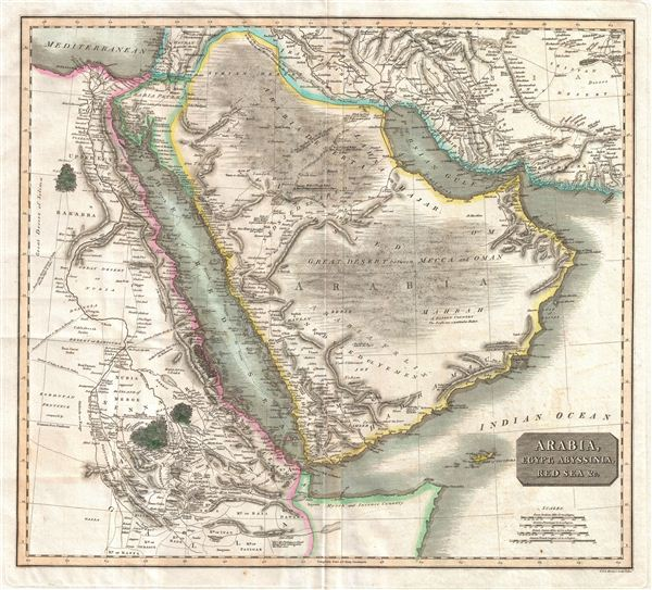 Arabia, Egypt, Abyssinia, Red Sea & c. - Main View