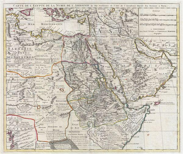 Carte de l'Egypte de la Nubie de L'Abissinie &c.