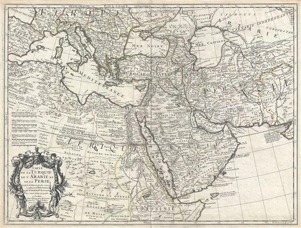 Carte de la Turquie de L'Arabie et de la Perse.