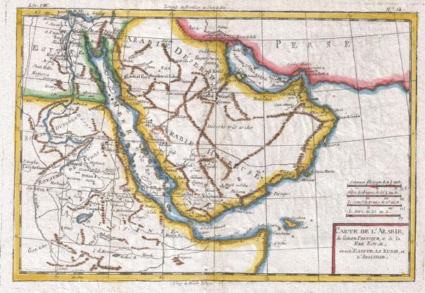 Carte De L'Arabie - Main View
