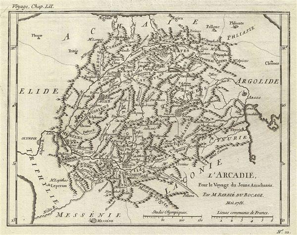 l'Arcadie, Pour le Voyage du Jeune Anacharsis.