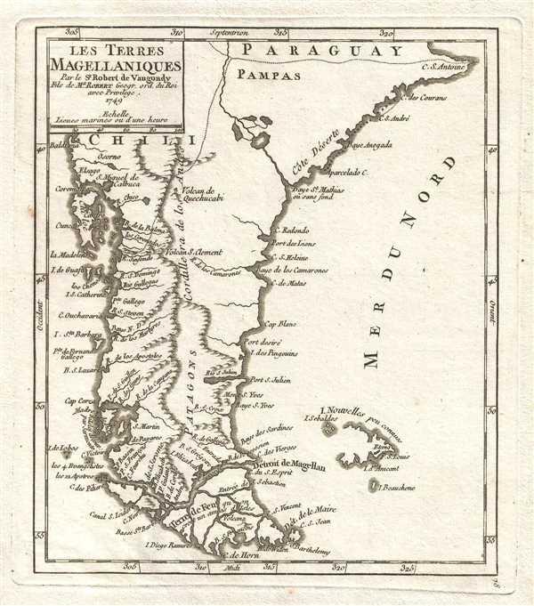 Les Terres Magellaniques. Par le Sr. Robert de Vaugondy, Fils de Mr. Robert Geogr. ord. du Roi.