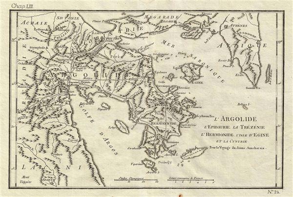 l'Argolide l'Epidaurie, la Trezenie l'Hermionide, l'Isle d'Egine et la Cynurie Pour le Voyage du Jeune Anacharsis.
