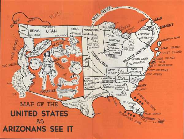 Map of the United States as Arizonans See It.