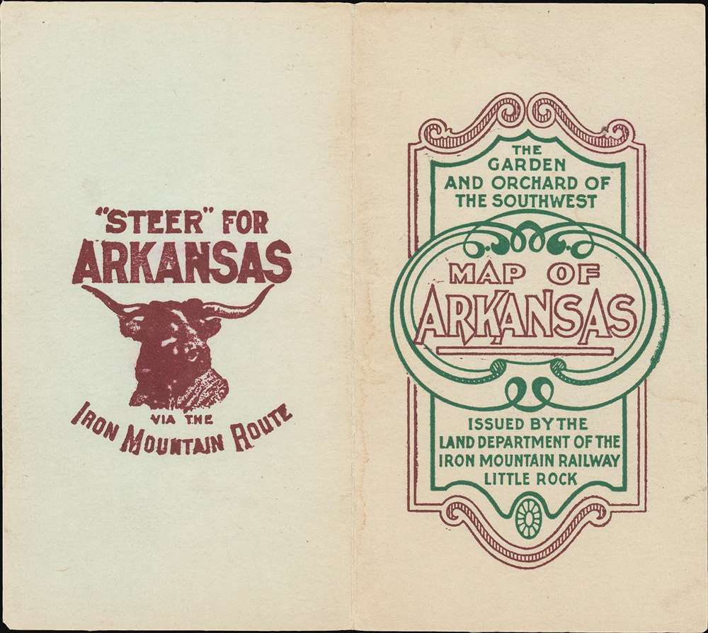 Map Showing the Land Grands of the St. Louis, Iron Mountain and Southern, and Little Rock and Fort Smith Railways in Arkansas. - Alternate View 4