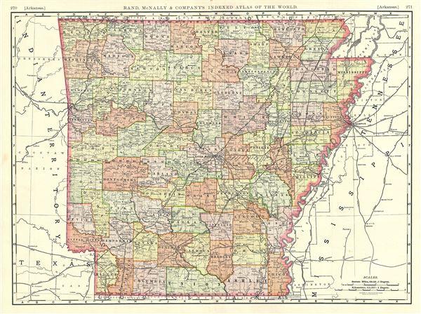 Arkansas Geographicus Rare Antique Maps - Map of arkansas