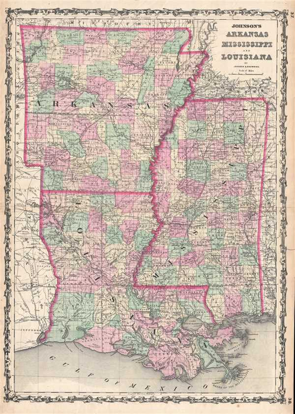 Johnson's Arkansas Mississippi and Louisiana. - Main View