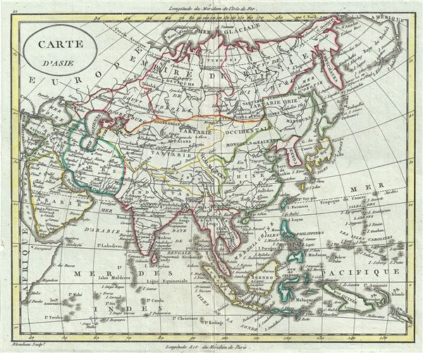 Carte d'Asie.: Geographicus Rare Antique Maps on europe map, iran map, voyage map, afrique map, portugal map, bangladesh map, nature map, africa map, religion map,