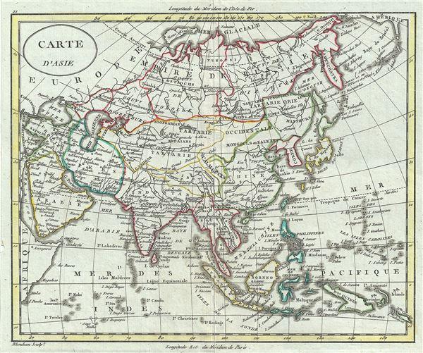 Carte d'Asie.
