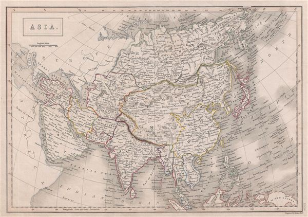 Black Map Of Asia.Asia Geographicus Rare Antique Maps