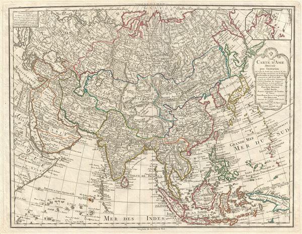 Carte D'Asie dressee pour L'Instruction… - Main View