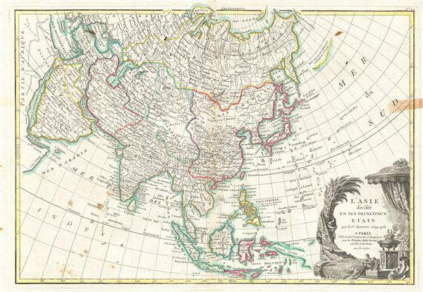L'Asie divisee en ses Principaux Etats. - Main View