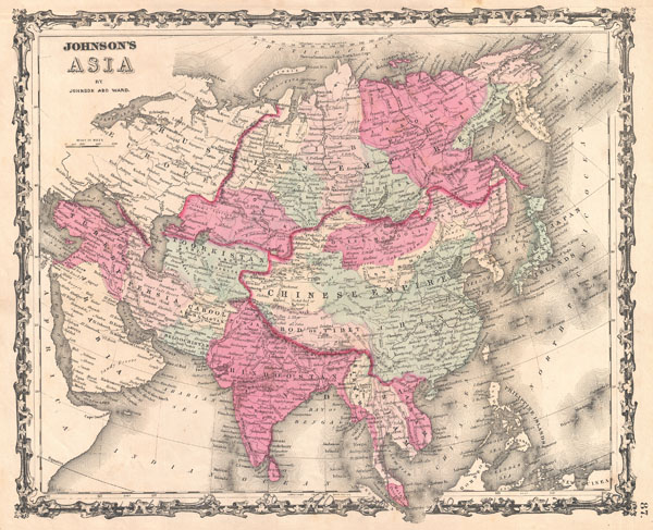 1862 Johnson Map of Asia