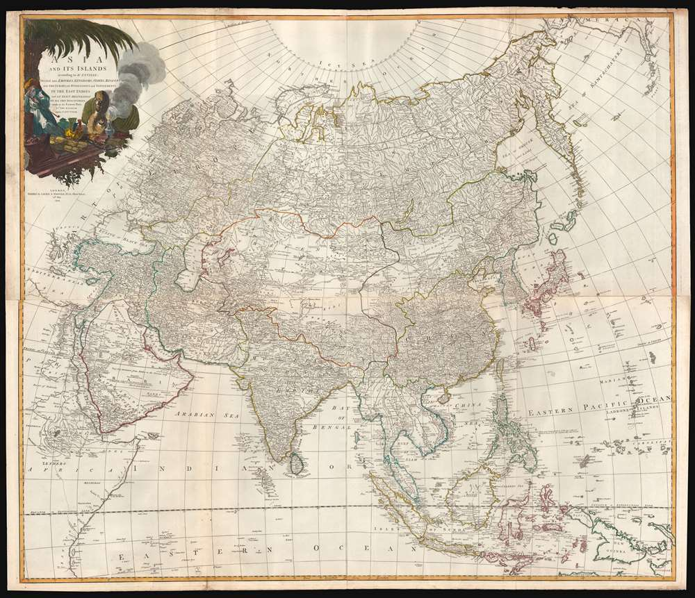 Asia and its Islands According to d'Anville; Divided into Empires, Kingdoms, States, Regions, and ca. with the European possessions and settlements in the East Indies and an exact delineation of all the discoveries made in the eastern parts by the English under Capt. Cook. - Main View