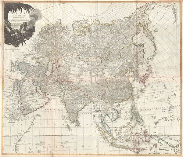 Asia and its Islands According to d'Anville; Divided into Empires, Kingdoms, States, Regions, &ca. with the European possessions and settlements in the East Indies and an exact delineation of all the discoveries made in the eastern parts by the English under Captn. Cook.