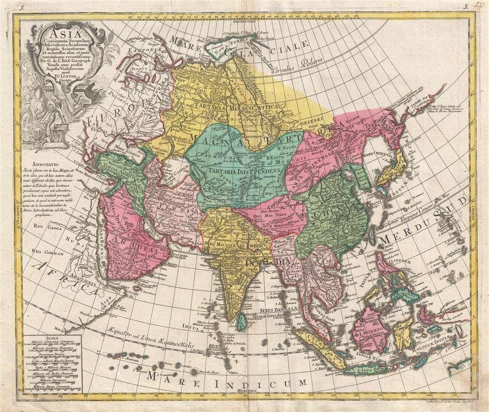 Asia Concinnata Secundum Observationes Academiae Regalis Scientiarum et nonnullas alias, et iuxta annotationes recentissimas. - Main View