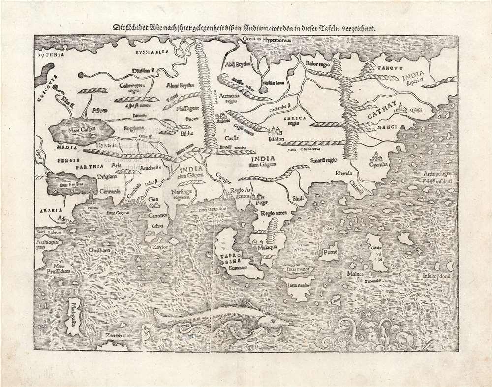 Die Lånder Asie nach ihrer gelegenheit bisz in Indiam werden in dieser Tafeln verzeichnet. - Main View