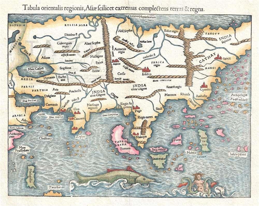 Tabula orientalis regionis, Asiae scilicet extremas complectens terras et regna.