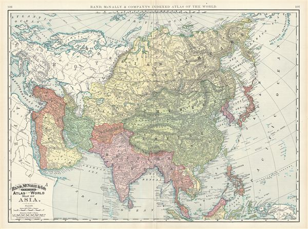 1892 Map Of The World.Map Of Asia Geographicus Rare Antique Maps
