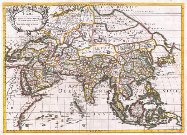 L'Asia Nuovamente Corretta, et Accresiuta, Secondo le Relationi piu Moderne du Guglielmo Sansone…