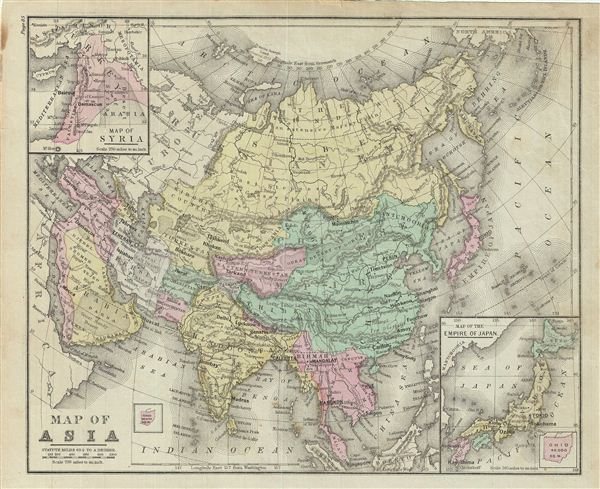 Map of Asia. - Main View