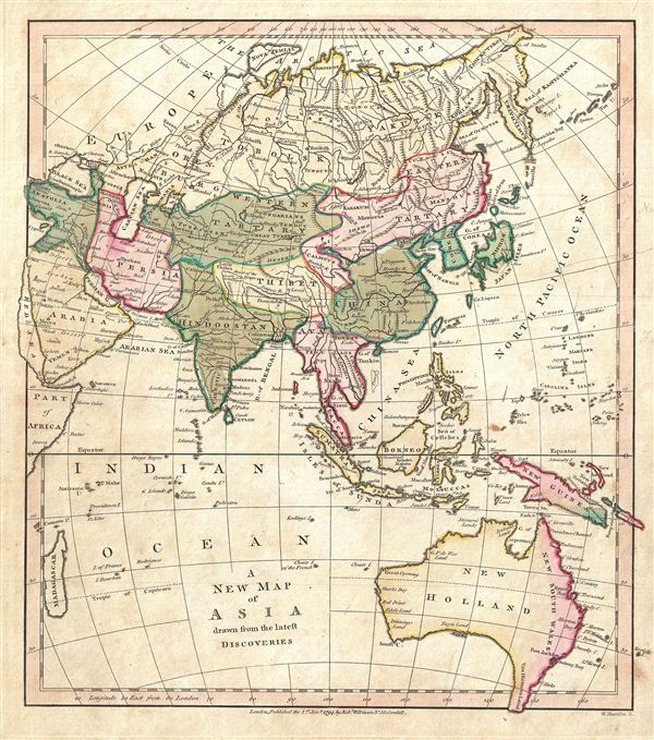 A New Map of Asia drawn from the latest Discoveries.