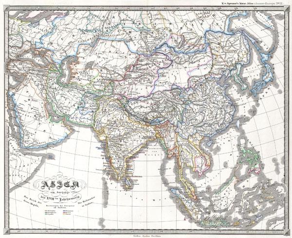 Asien am Ausgange des 17th Jahrhunderts.