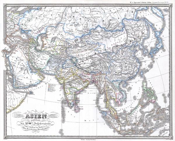 Asien gegen ende des 18th Jahrhunderts. Die Briten in Indien; das Reich der Mandschu.