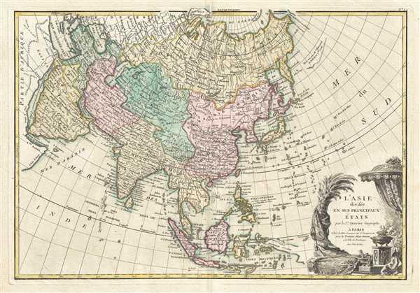 L'Asie, divisée en ses Principaux Etats.