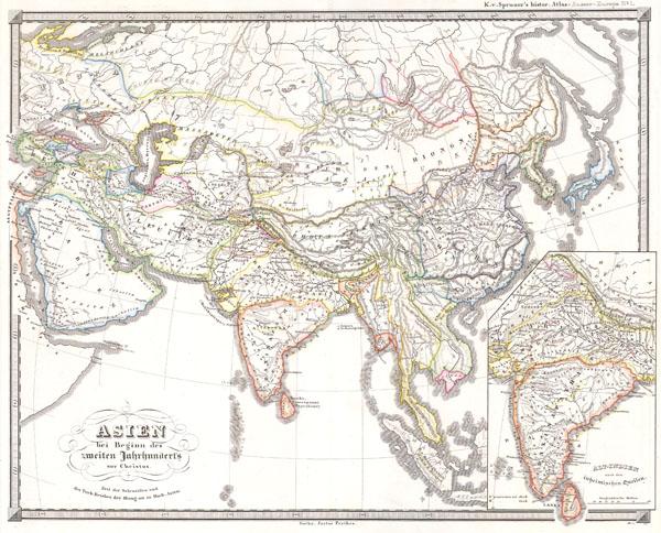 1855 Spruner Map of Asia 200 B.C.E ( Han China, Seleucid Empire )