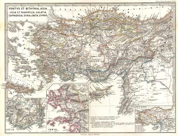 Pontus et Bithynia, Asia, Lycia et Pamphylia, Galatia, Cappadocia, Syria, Creta, Cyprus.