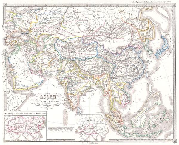 Asien im XIIIten & XIVten Jahrhundert.  Die Mongolenherrschaft.