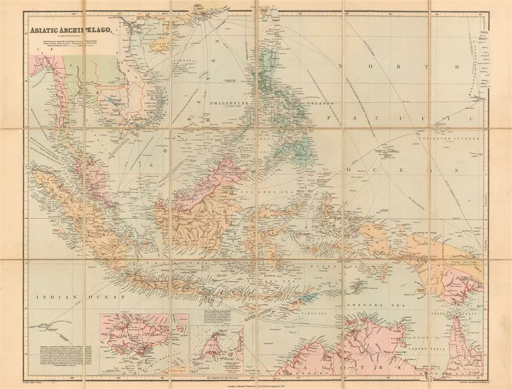 Asiatic Archipelago on Mercator's Projection