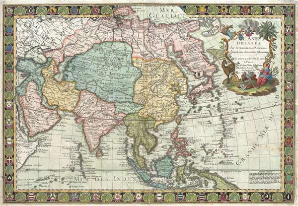 1732 Danet Separate-Issue Map of Asia