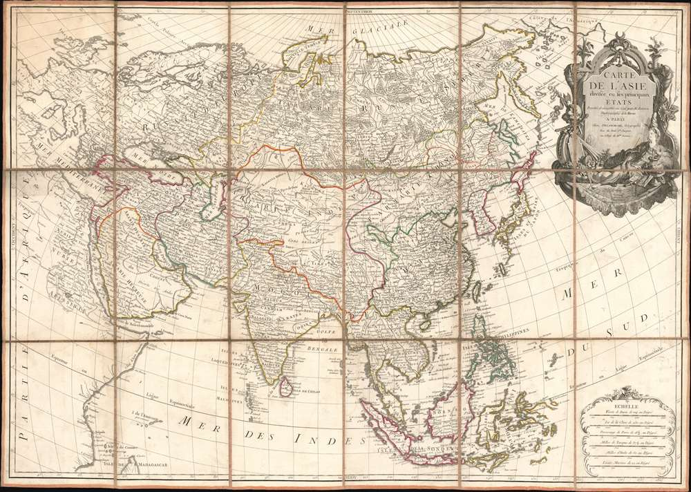 1779 Bonne / Delamarche Separate-Issue Map of Asia