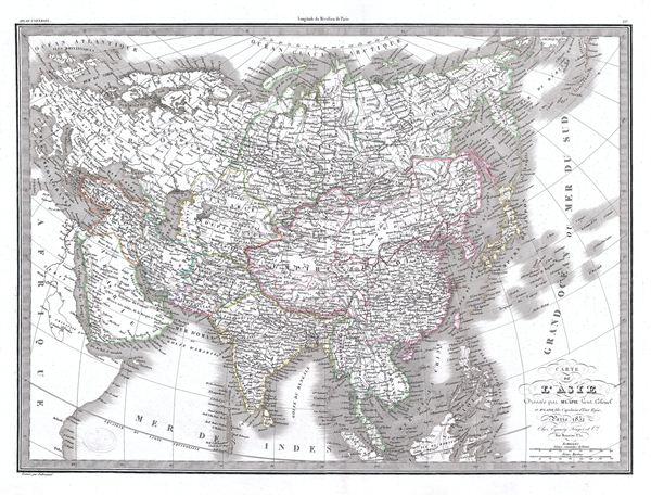 Carte de l'Asie.