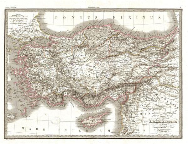 Carte de L'Asie Mineure Ancienne.