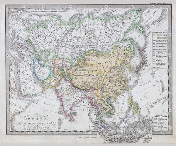 Asien Politische Ubersicht.