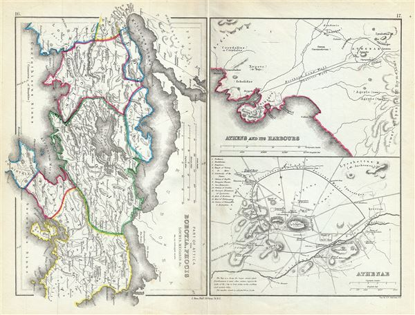 Part of Attica with Boeotia, Phocis Locris, Megaris etc. - Main View
